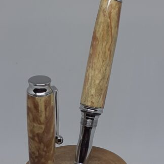rollerball pen in ashbur and chrome plateing finish