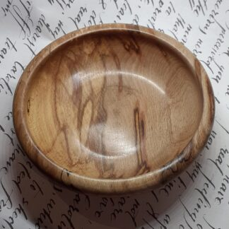 Change or key bowl in spalted beech.