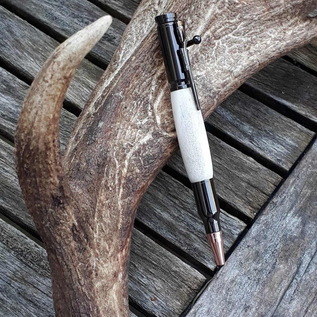 A unique pen made from antler
