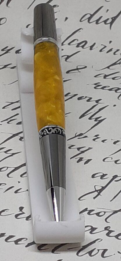 gold acrylic twist top pen