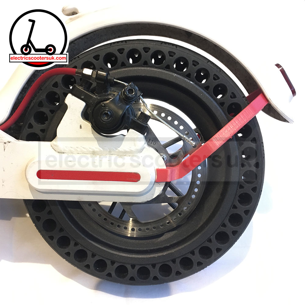 M365 Solid Tyre Honeycomb - with Red Mudguard Bracket