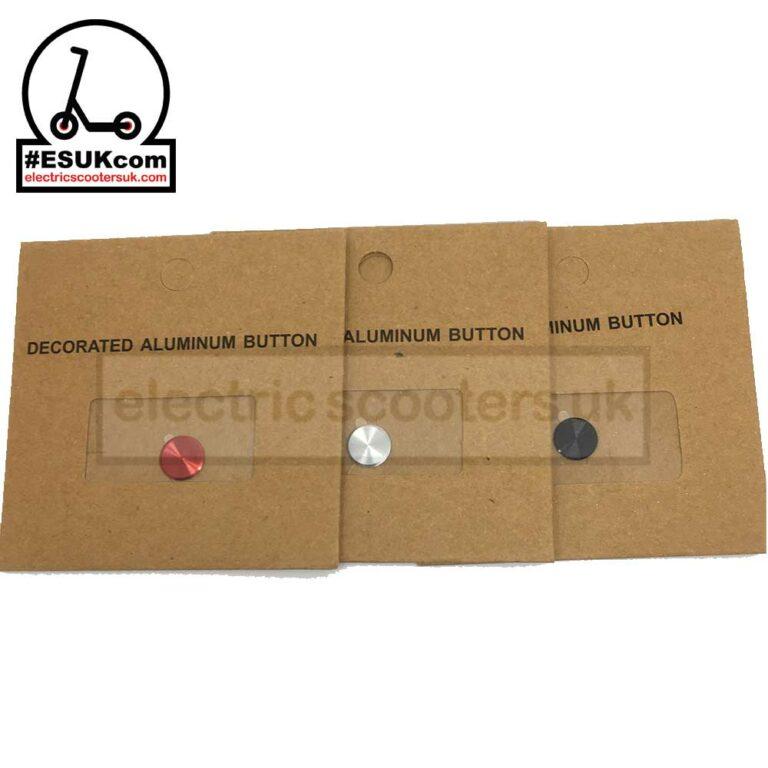 M365 Power Button Sticker - Red / Silver / Blacj
