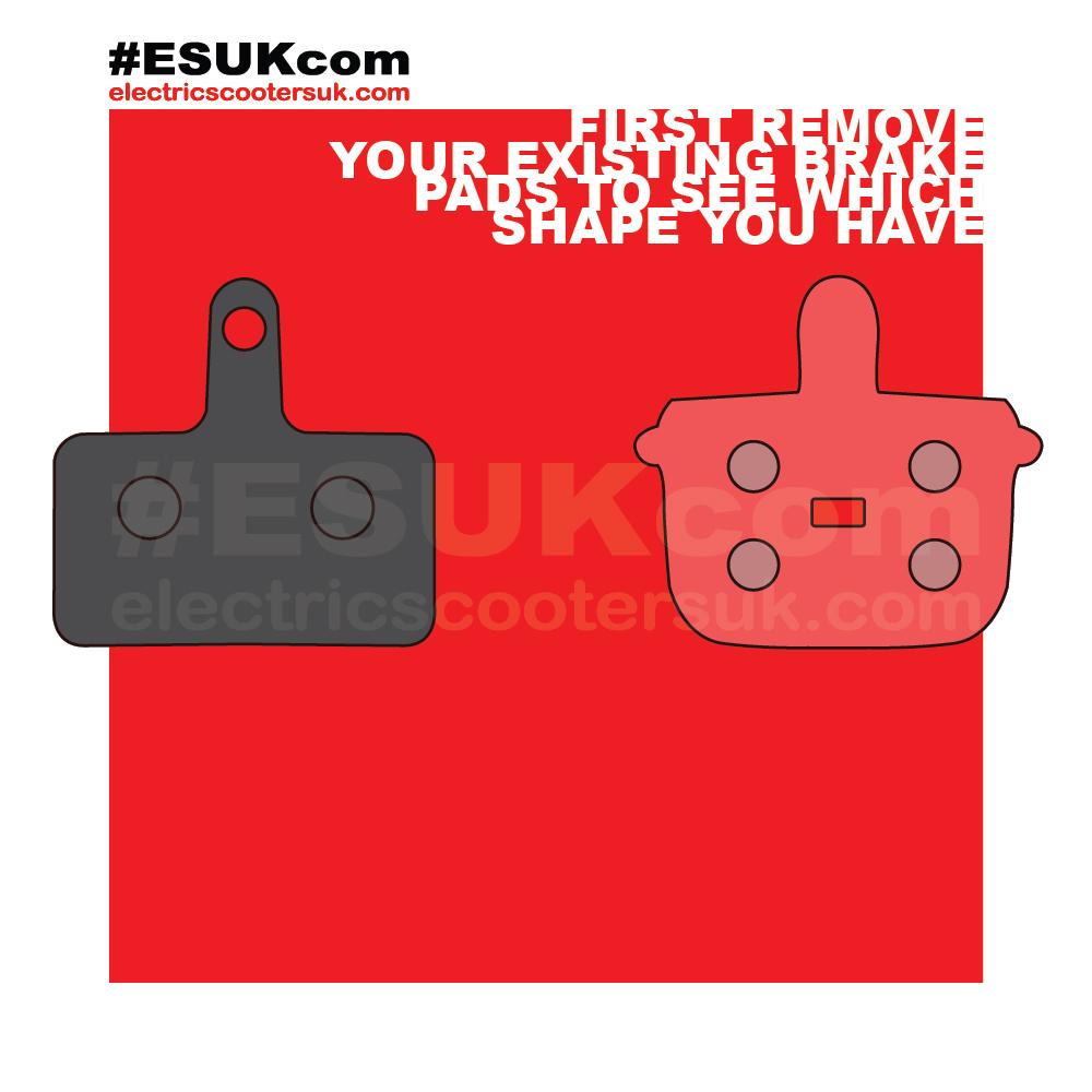 G-Booster brake pads rectangle or pot shape