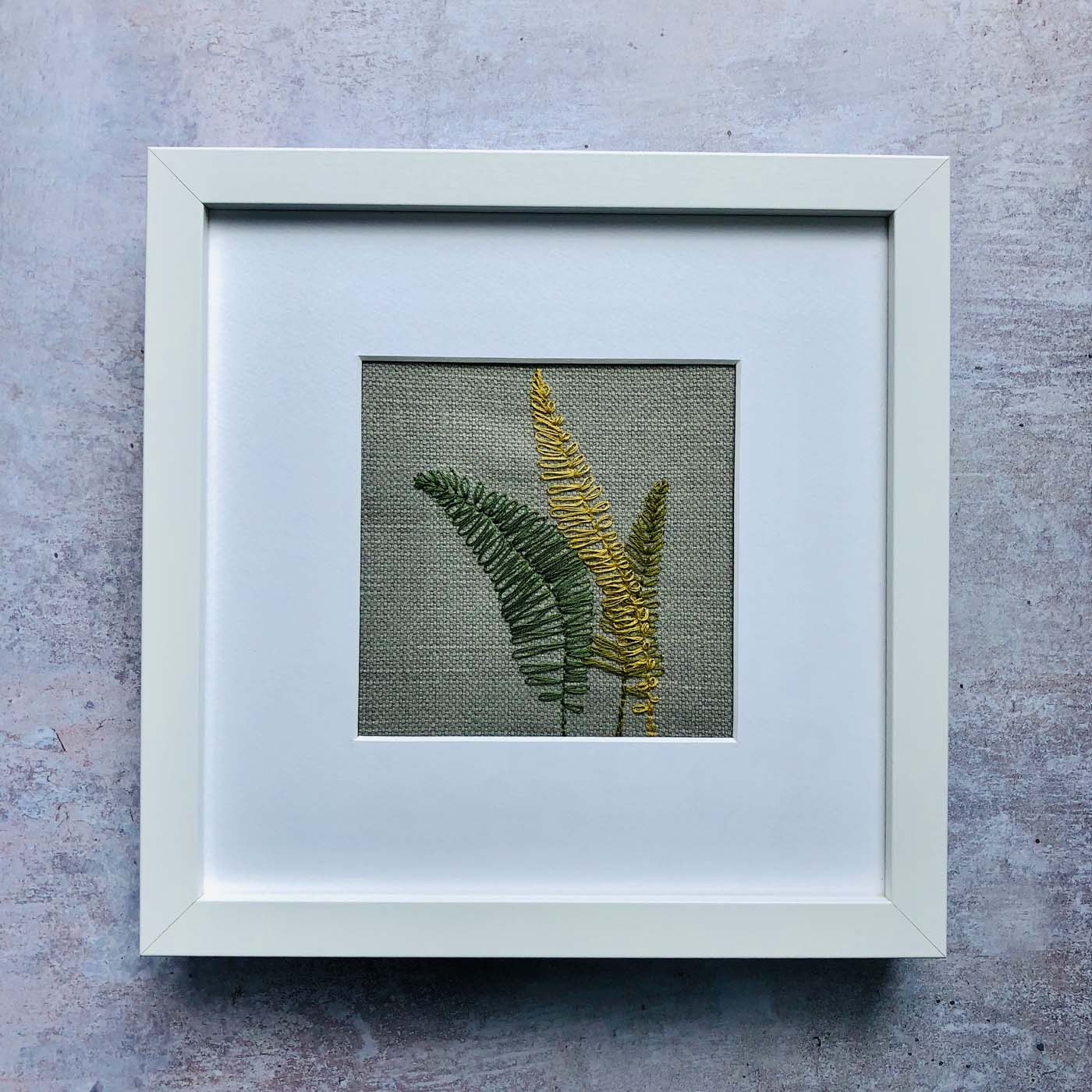 Embroidered Ferns