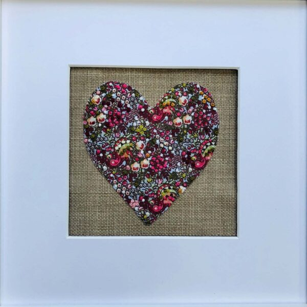 Embroidered Heart Art