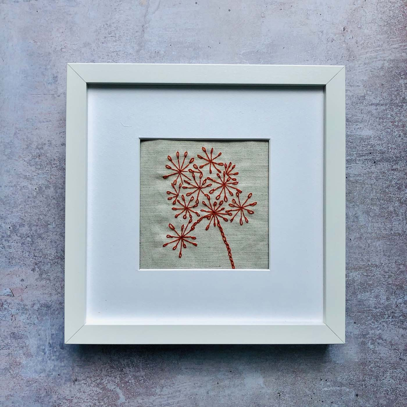 Embroidered Seed Head