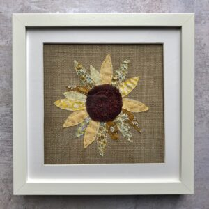 Sunflower embroidered art picture