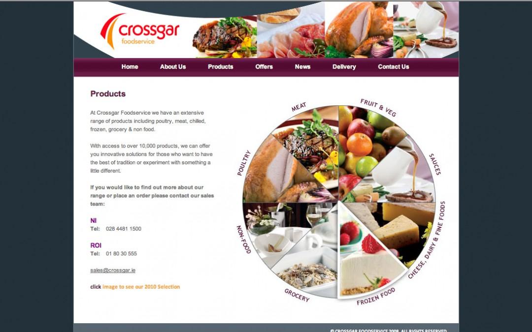 Web Designers Belfast portfolio – Crossgar Foods