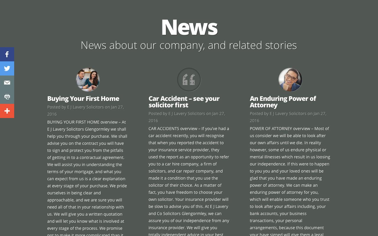 Web designer Belfast project overview EJL 5.