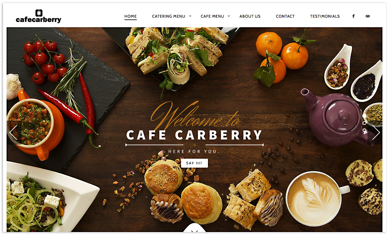 Web designers Belfast, web design for Cafe Carberry - image 1.