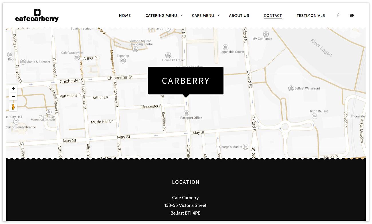 Web designer Belfast, web design for Cafe Carberry - image 6.
