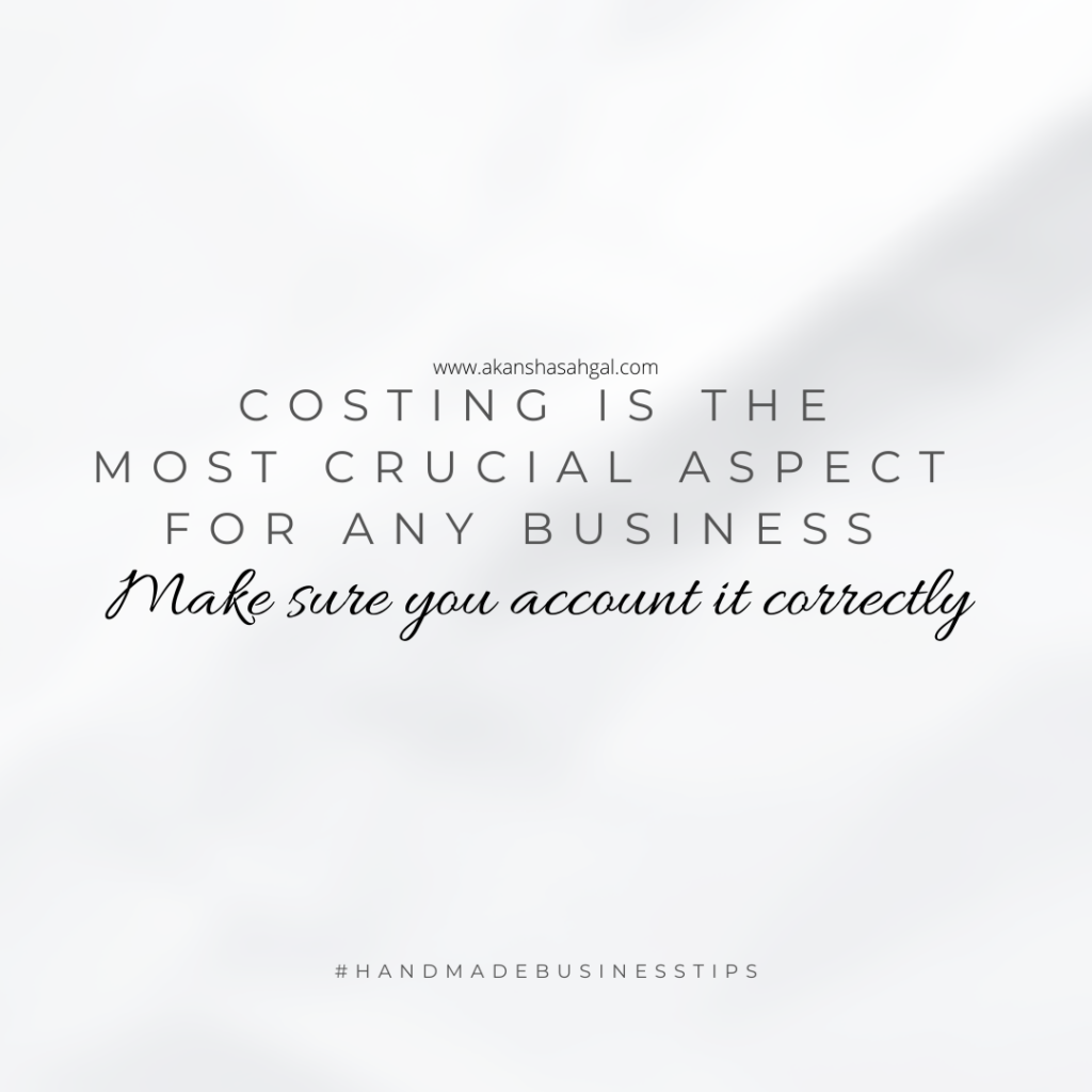 Costing mistakes in craft business