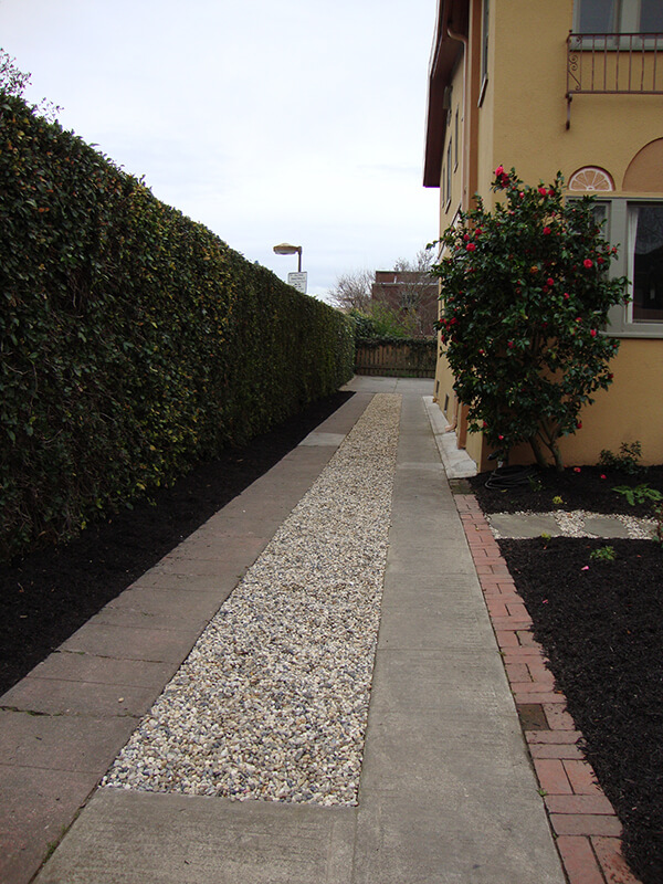 Gravel reduces the need for weeding and watering