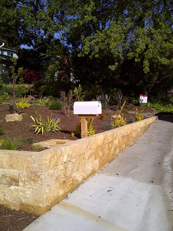 Deer resistant drought tolerant dry stack custom wall garden