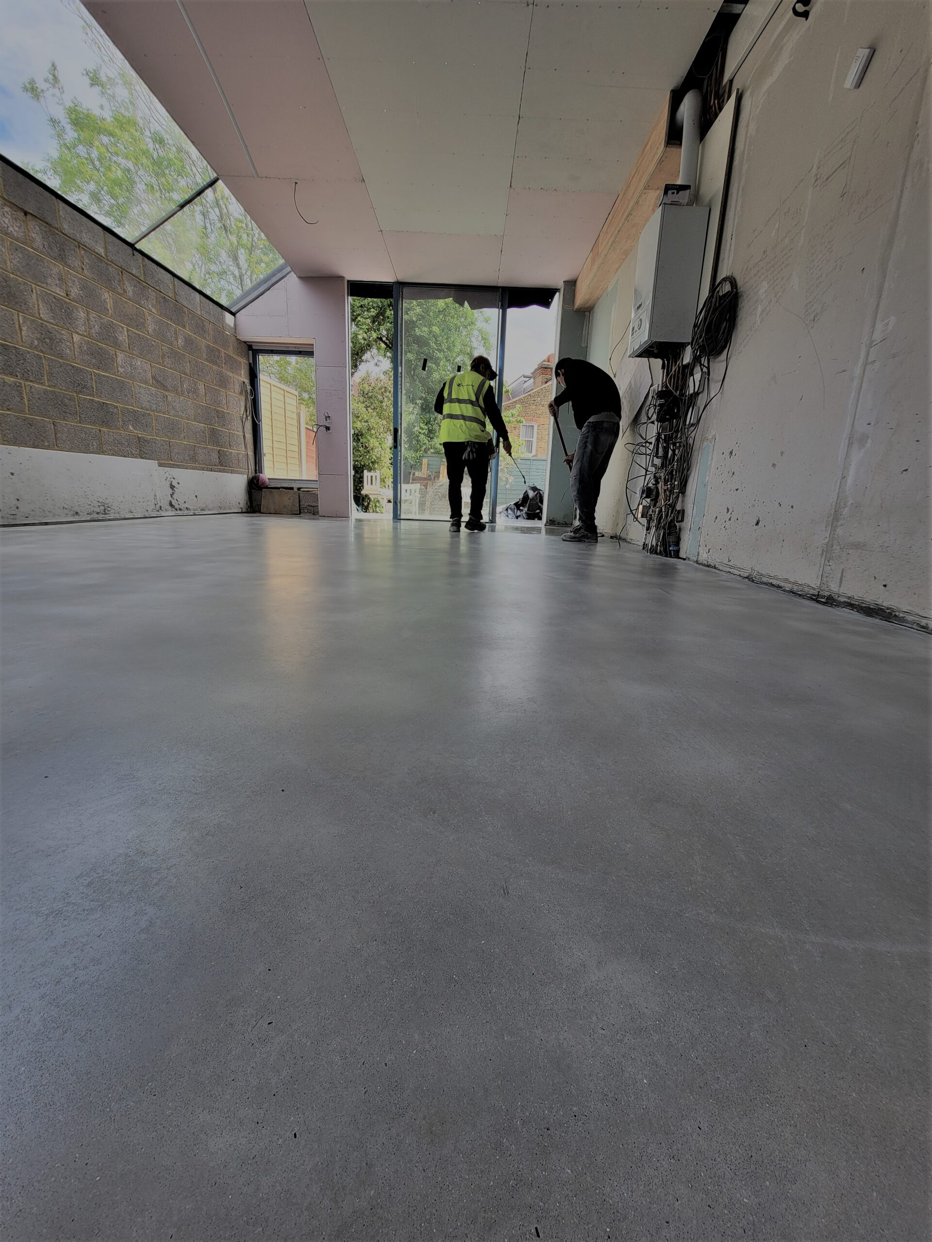RESIDENTIAL Solid Polished Concrete Project @London