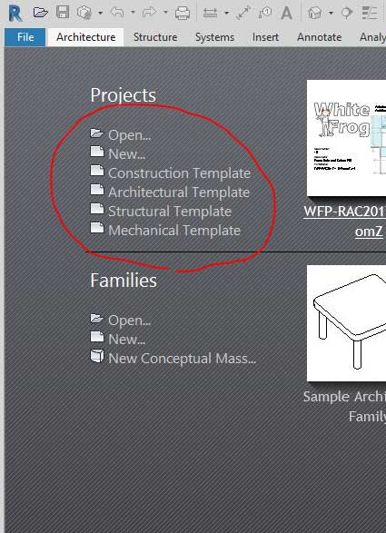 Customise Revit Home Screen Template List Man And Machine