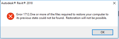 Autodesk Revit Error 1712