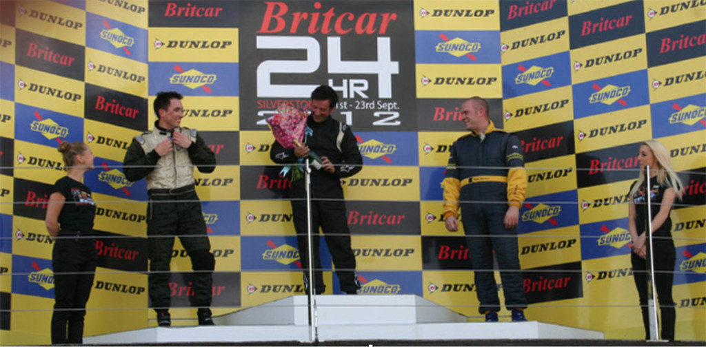 Patrick Sherrington 2nd on the podium at Silverstone GP circuit