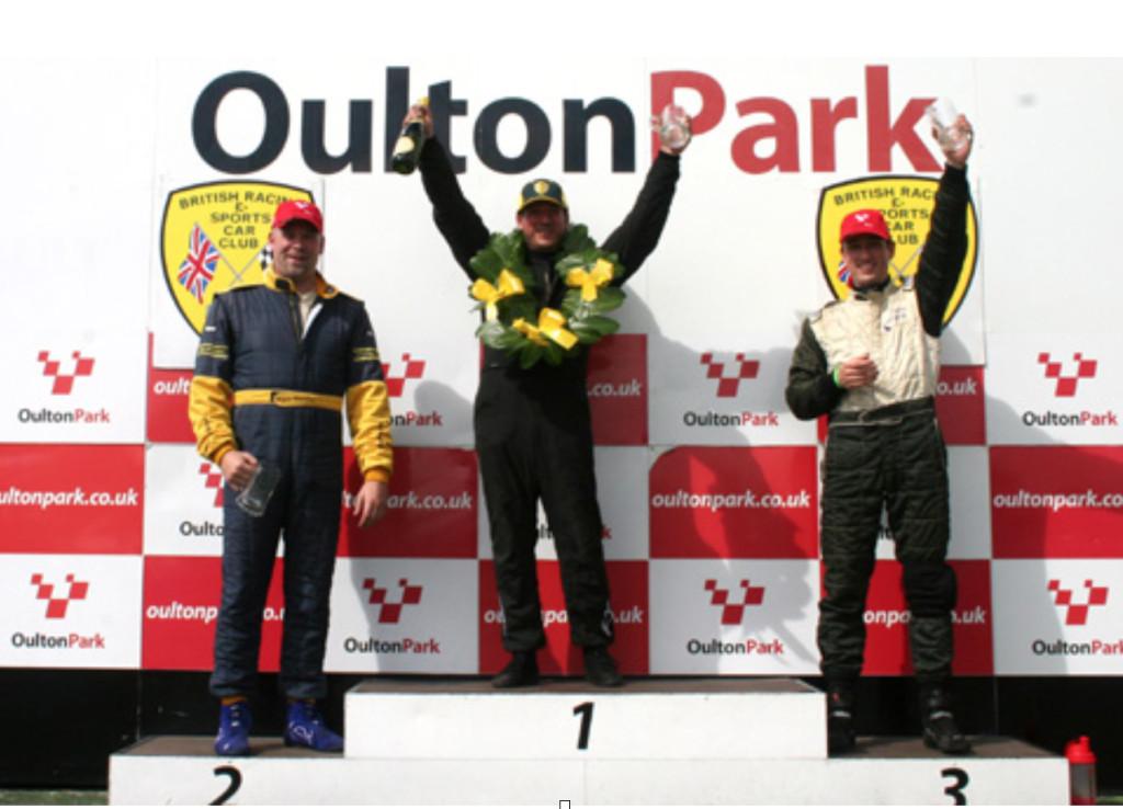 Patrick on the podium at Oulton Park