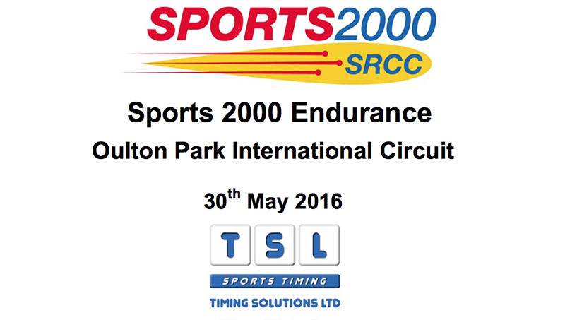 Oulton Park Race results TSL Timing