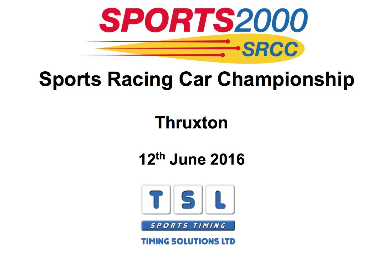 Thruxton race reports MCR Racing cars
