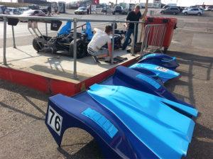Alan and Michael Gibbins setting up their MCR Race Car