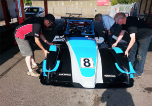 Scrutineering the MCR Race Cars at rands Hatch