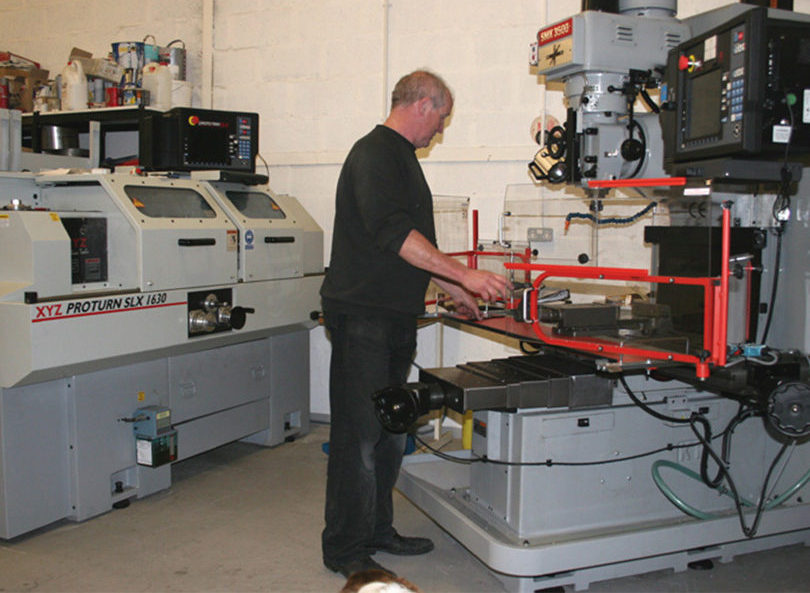 MCR race car manufacturers cnc milling