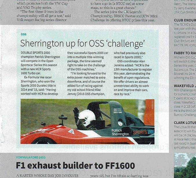 Autosport magazine sherring oss championship