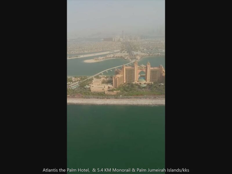 PALM JUMEIRAH : THE WORLD´S LARGEST ARTIFICIAL ISLAND FROM AIR !