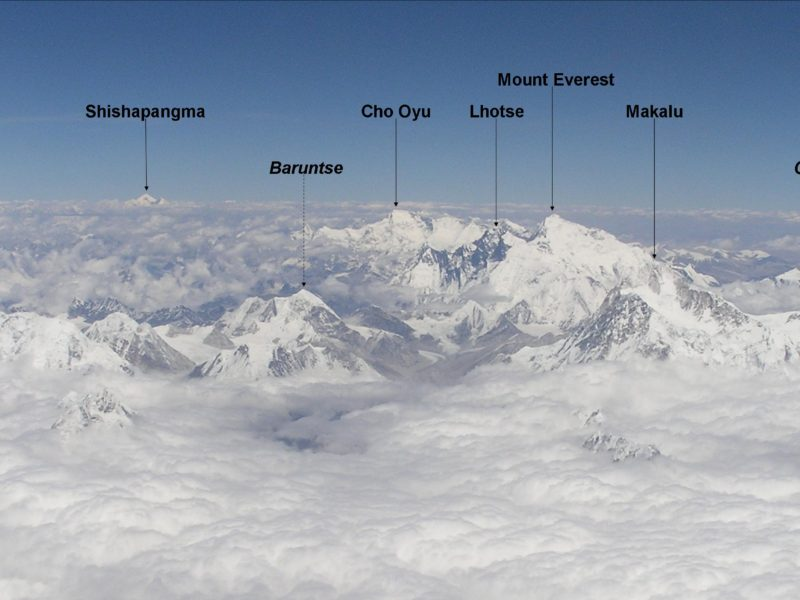 MOUNT EVEREST & 8 OTHER EIGHT THOUSANDERS FROM AIR !