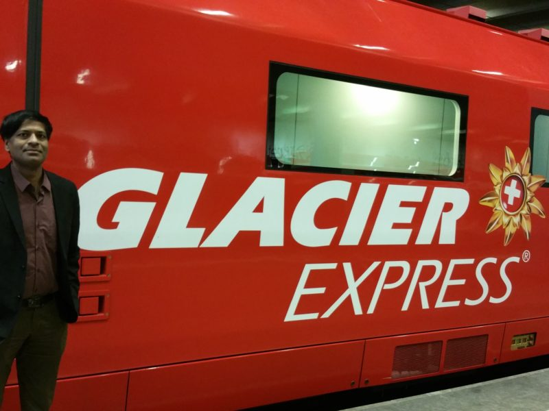 GLACIER EXPRESS : THE SLOWEST EXPRESS TRAIN IN THE WORLD !
