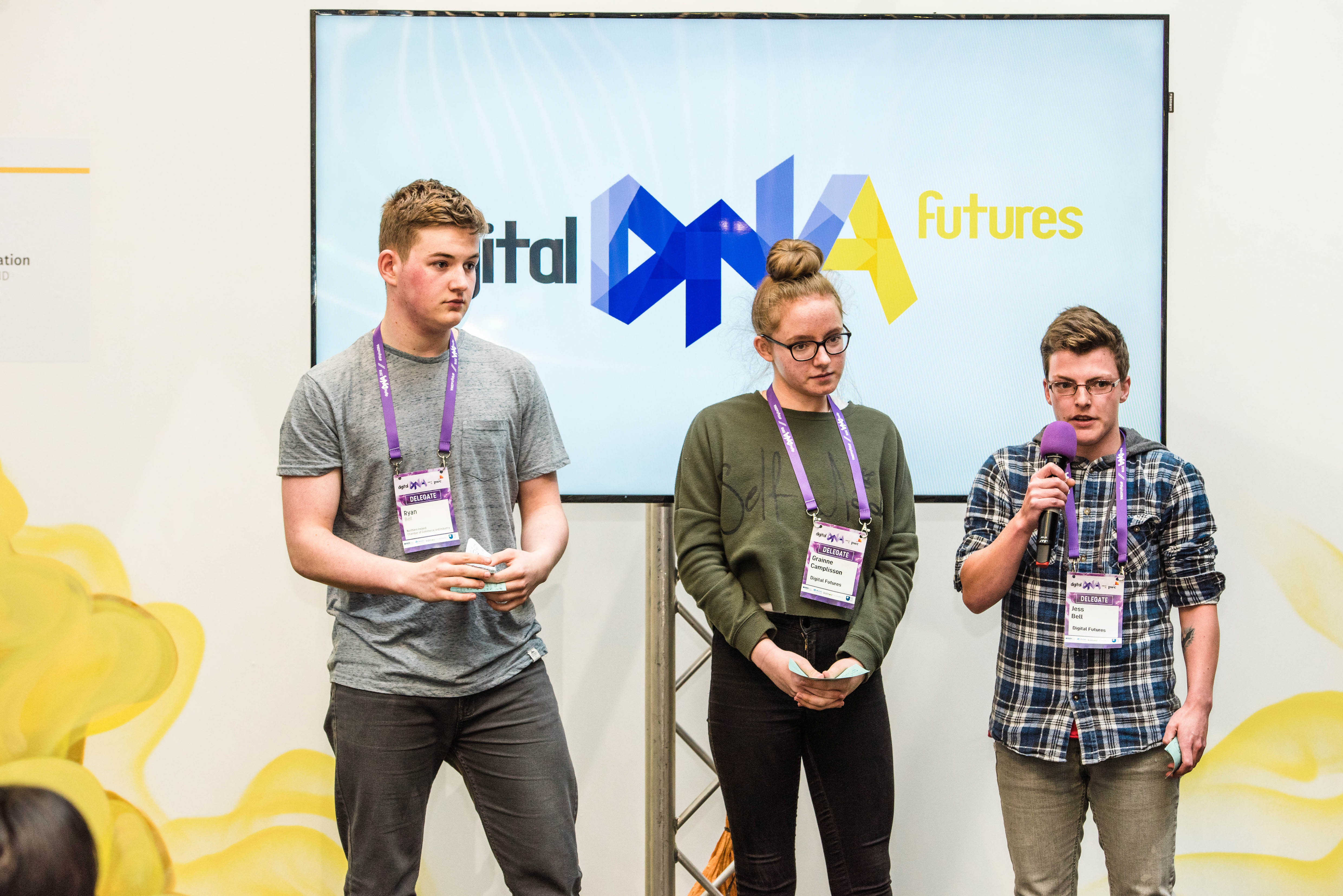 Ryan Bell, Gráinne Camplisson and Jess Bell make their pitch