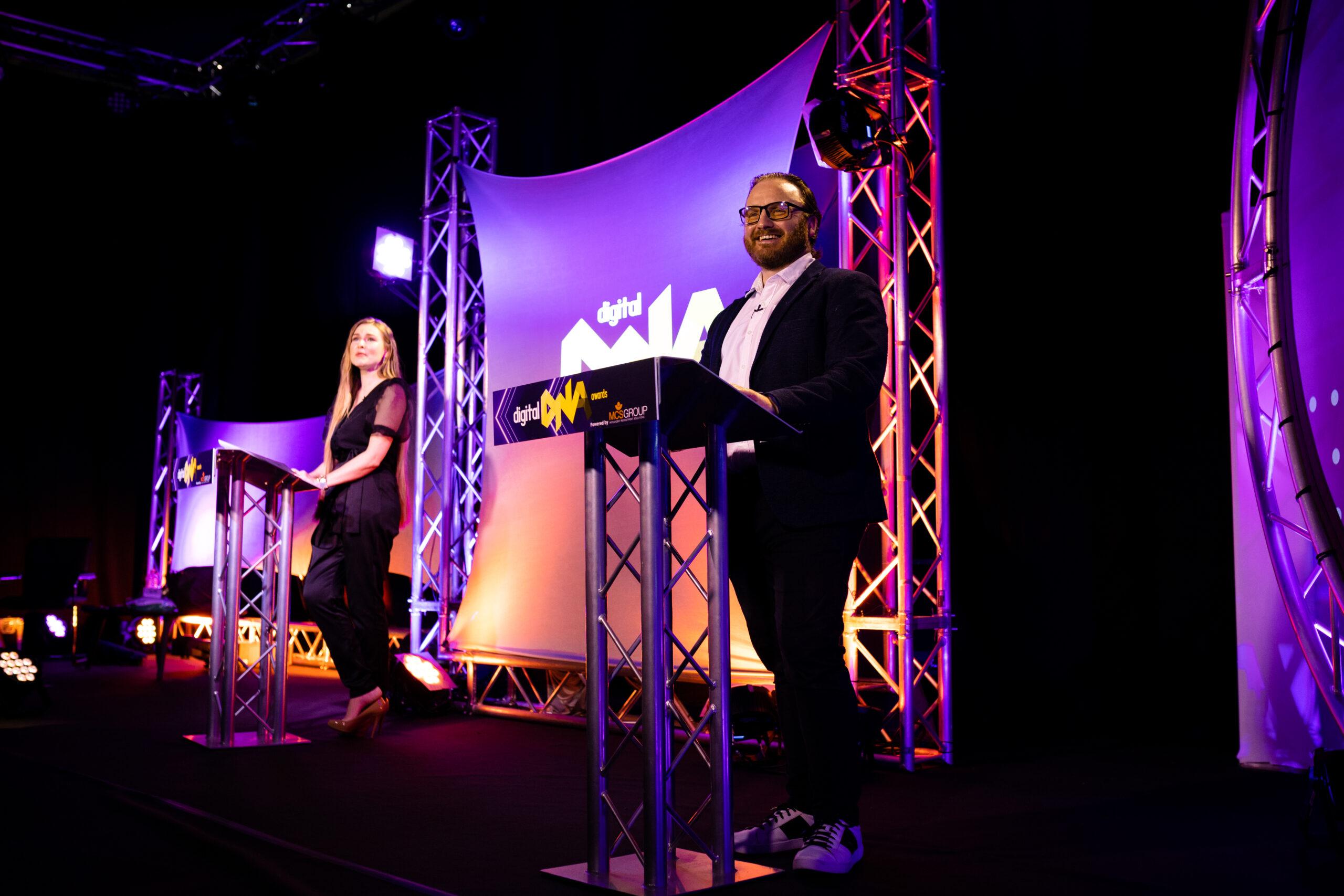 Simon Bailie and Zoe Salmon present the Digital DNA Awards 2020