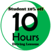 10 Hours Driving Lessons Student Deal