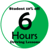 6 hours Driving Lessons student price deal