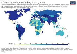 Stringency Index heat map (March 2020)