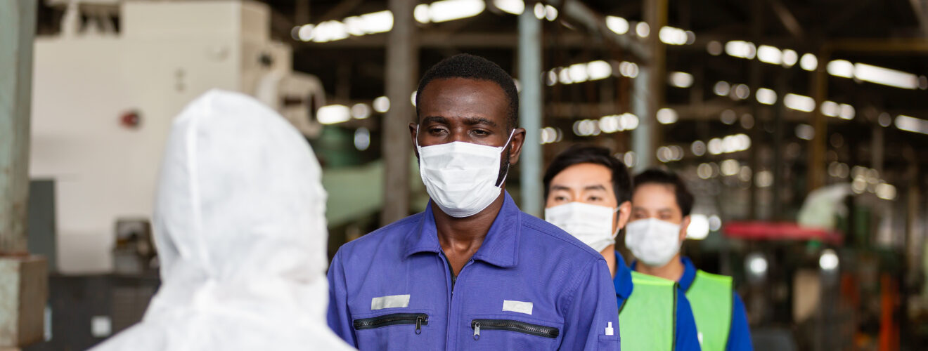 Group of factory workers