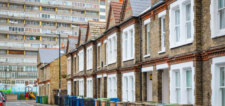 Mixed housing in south-east London