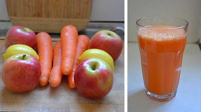 Морковь, Яблоки и Лимон