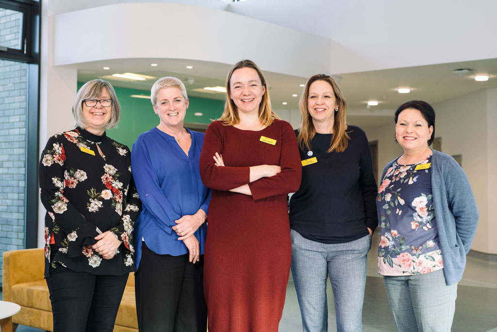 Management team at the centre