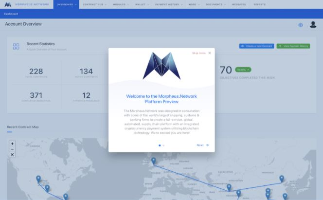 morpheus.network demo - blockchainmarket.eu