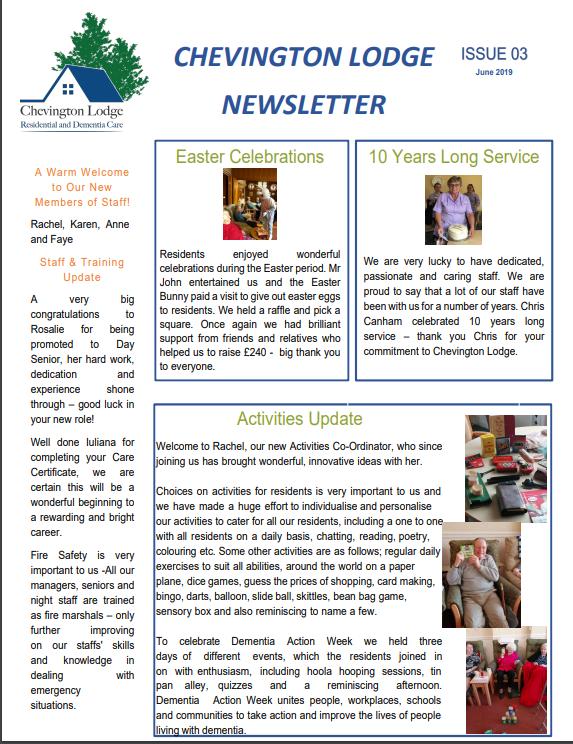Newsletter Issue 3