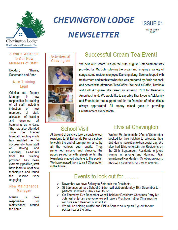 Newsletter Issue 1