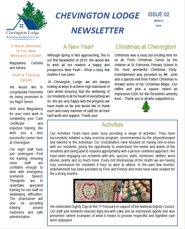Newsletter Issue 2