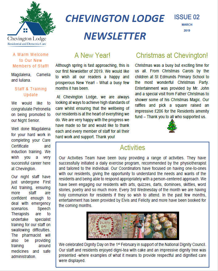 Newsletter Issue 2
