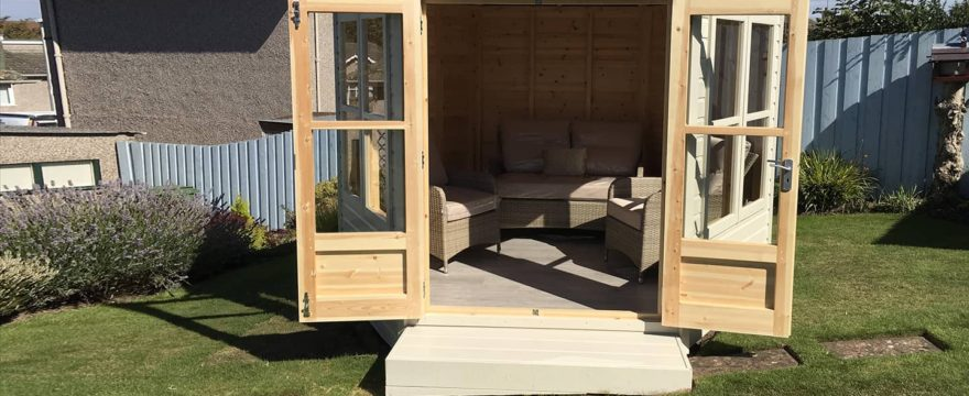 garden summerhouse foundations