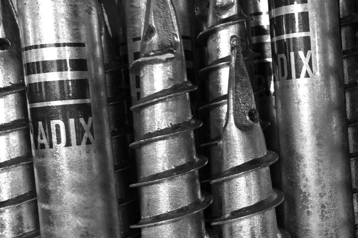 radix base systems ground screw foundations