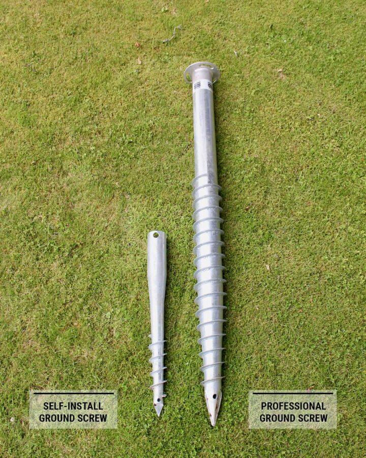 professional ground screws vs self-install foundations