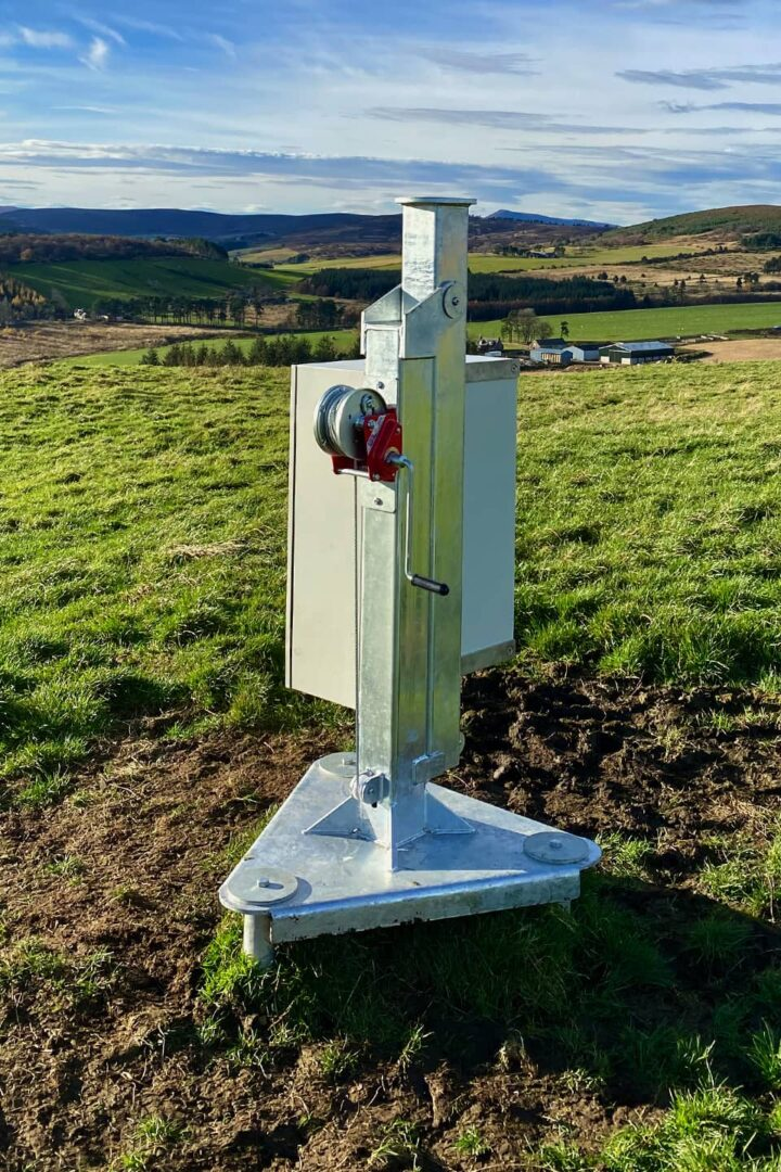 RADIX base station installed on ground screws